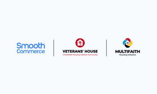 Smooth Commerce, Veterans' House and Multifaith Housing Initiative logos