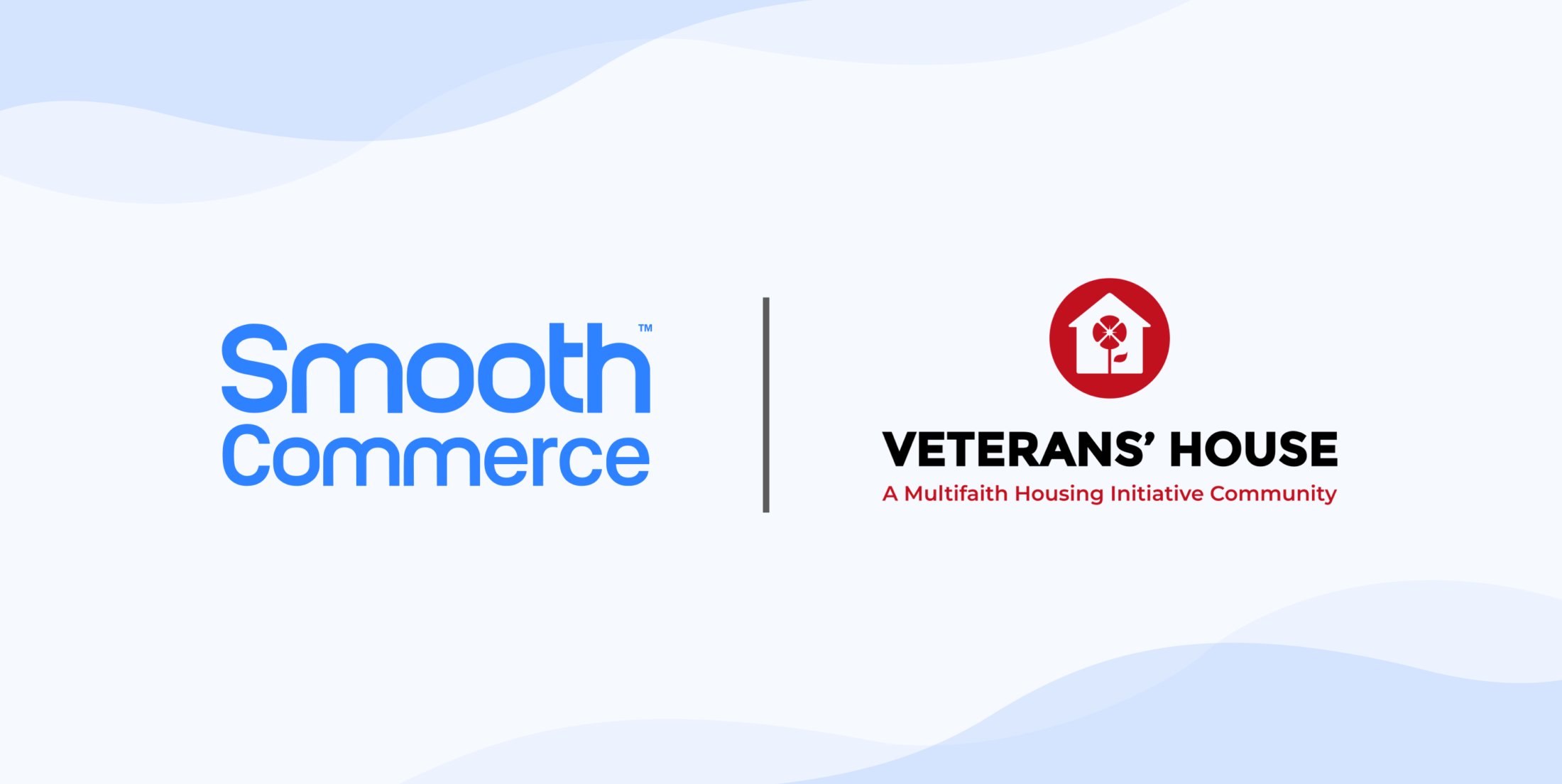 Smooth Commerce and Veterans' House logos