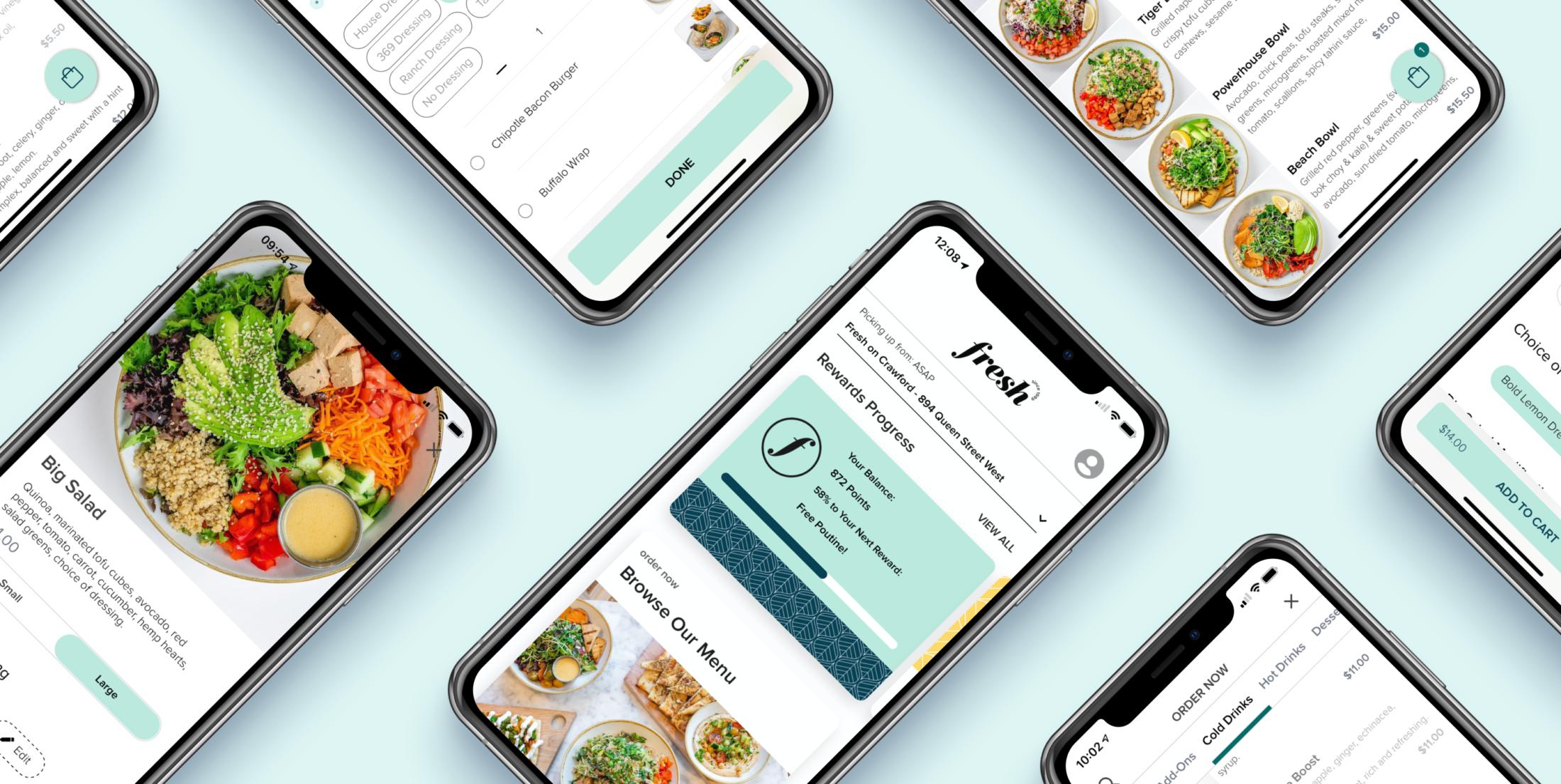 Fresh's mobile app