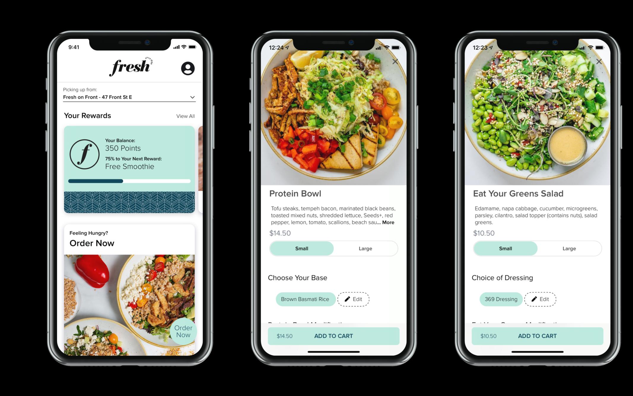 Fresh mobile app